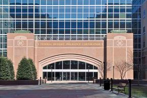 The exterior of the FDIC, which processes payments for failed banks.