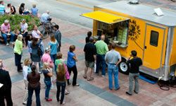 FactSet Research Systems' special visits from food trucks put a fresh spin on the standard free meal perks.