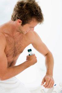 Using deoderant will help mask underarm odor.