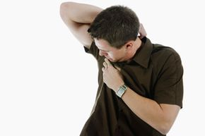 If you have to check for underarm wetness throughout the day, try using underarm sweat pads to keep your clothes clean and dry. See more men's health pictures.