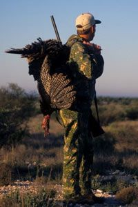 Turkey hunter near Ballinger, Texas.