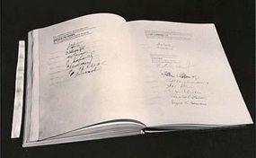 U.N. Charter with U.S.S.R., U.K. and U.S. signatures