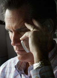With universal-messaging services, candidates like Mit Romney can receive their messages even while they're on the campaign trail.