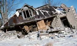 This could be the end result if you knock down a load-bearing wall.