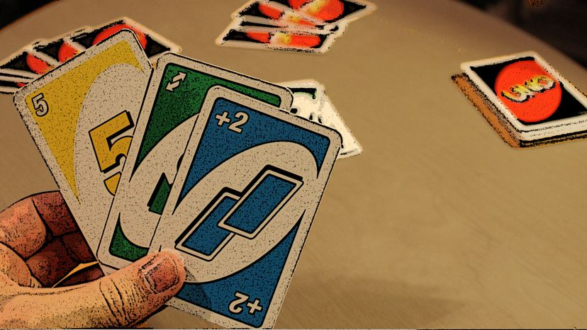 People playing UNO