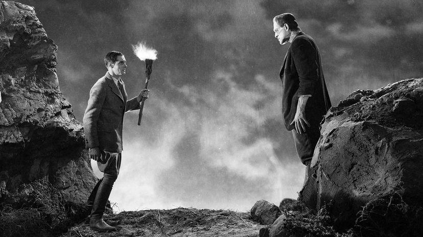 """Monster and maker meet in the 1931 film """"Frankenstein."""""""