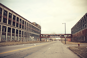 The Packard plant is dangerous enough that the fire department can't even venture inside.
