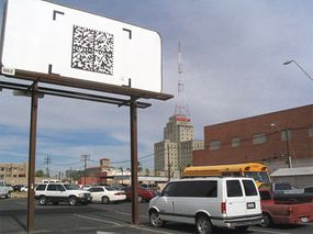 ConQwest Phoenix: semacode billboard