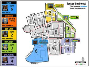 ConQwest 2005: Live animated map of Tucson game on the web
