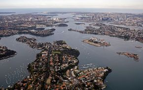 The coast of Sydney, Australia, is home to nearly 21 million people as of August 2008.