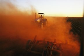 Poor agricultural habits can lead to dust and desertification.