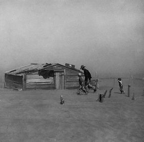 While the dust bowl ravaged the Great Plains, many farmers stayed on to try to make a go of it.