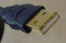 """A typical USB connector, called an """"A"""" connection"""