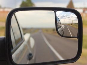 Definitely look back: special mirrors for towing vehicles give drivers the best possible views next to a behind the truck, SUV or recreational vehicle. See more car safety pictures.