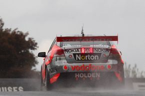Jamie Whincup drives the #88 Team Vodafone Holden during practice for the Bathurst 1000, which is round 10 of the V8 Supercars Championship Series at Mount Panorama on Oct. 8, 2011 in Bathurst, Australia.