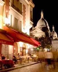 With the money you save on tourist food, you can afford a fine meal at a cozy Montmartre café. You've flown all the way here, after all.