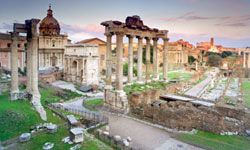 When you're near the thick of things, you have more time to spend at the sites you want to see -- like the Forum of Rome.