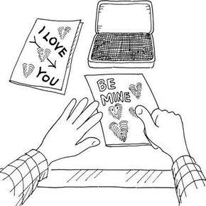 Thumbelina Valentine's Day card