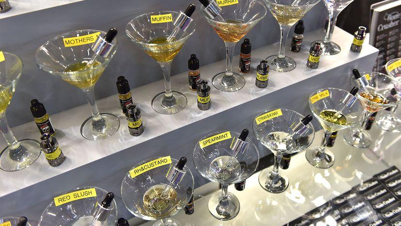 vaping liquid, flavored