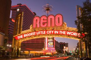 Reno features Vegas-like attractions, but on a smaller scale.