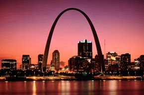 Casinos and other entertainments are located in St. Louis' city center -- one is even right across from the famous Gateway Arch.