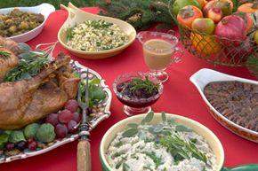 As long as these side items weren't doused in bacon grease, they're a vegetarian's delight. See more pictures of holiday noshes.