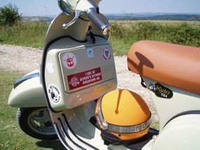 The front panel of the Vespa.