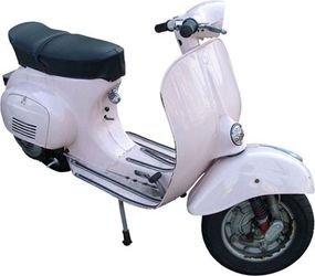 A Vespa with a rear, right-mounted engine.