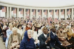 The U.S. pays tribute to its millions of veterans on Veterans Day of course, but what about come tax time? This picture was snapped during a 1978 Veterans Day ceremony at Arlington Cemetery.