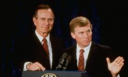 Sen. Dan Quayle, vice president under George H.W. Bush, was chosen in the 1988 race to balance the ticket in part because of his youth.