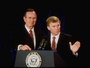 Dan Quayle and George H.W. Bush