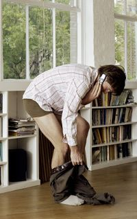 One reason old videophones didn't catch on is because most people don't want to be caught with their pants down.