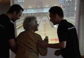 Video game players span age demographics like Wii bowling which even seniors enjoy. Video game designers are responsible for creating motion games.