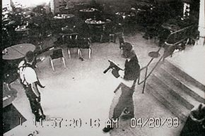Columbine High School shooters Eric Harris (L) and Dylan Klebold were avid video game players. Is there a link between playing video games and committing violent acts? See more video game system pictures.