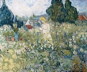 Marguerite Gachet in the Garden 18x21-3/4 inches), in the Musée d'Orsay, Paris.