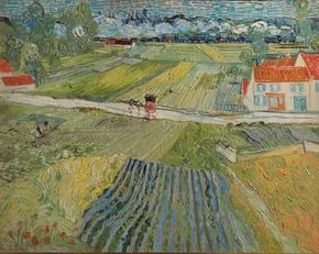 Landscape with Carriage and Train in the Background by Vincent van Gogh, is housed in the Pushkin Museum of Fine Arts in Moscow.