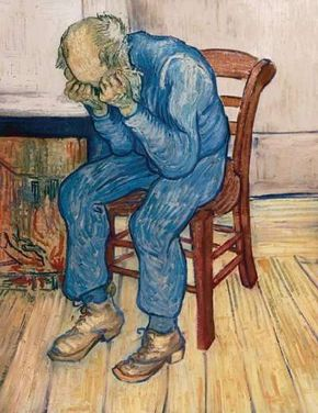Old Man in Sorrow (On the Threshold of Eternity) is emblematic of Vincent van Gogh's suffering in his final months in Auvers-sur-Oise.
