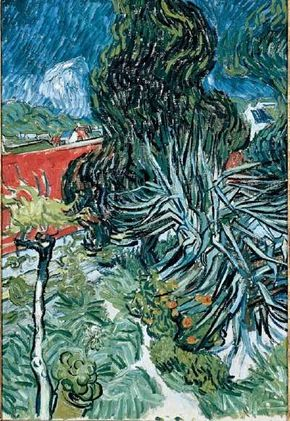 Vincent van Gogh's Dr. Gachet's Garden (oil on canvas, 28-3/4x20-1/4 inches) can be seen in the Musée d'Orsay, Paris.