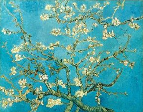 Vincent van Gogh's Almond Blossom (oil on canvas, 29x36-1/4 inches) hangs in Amsterdam's Van Gogh Museum.