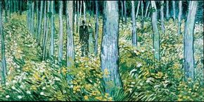 Undergrowth with Two Figures 19-3/4x39-1/2 inches), belongs to the Cincinnati Art Museum.