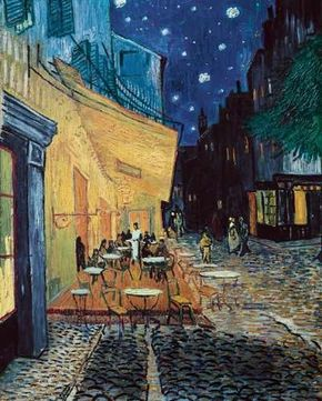 Vincent van Gogh's Starry Night over the Rhône on canvas (28-1/2x36-1/4 inches) that is d'Orsay in Paris. See more pictures of van Gogh's paintings.
