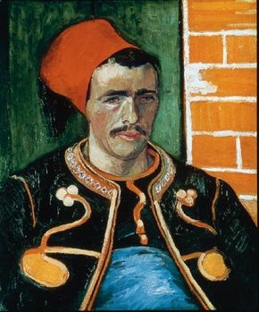 Vincent van Gogh's The Zouave is an oil on canvas (25-1/2x21-1/2 inches) that is housed in the Van Gogh Museum in Amsterdam.