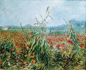Vincent van Gogh's Corn Fields and Poppies is an oil on canvas (21-1/4x25-1/2 inches) that is housed in The Israel Museum in Jerusalem.