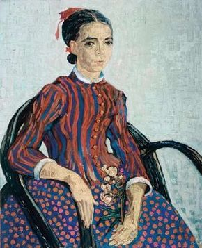 Vincent van Gogh's La Mousme, Sitting is an oil on canvas (29-1/4x23-1/2 inches) that is housed in the National Gallery of Art in Washington, D.C.
