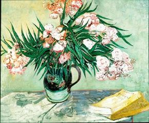Vincent van Gogh's Oleanders is an oil on canvas (23-3/4x29 inches) that is housed in the Metropolitan Museum of Art in New York.