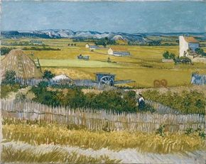 Vincent van Gogh's The Harvest is an oil on canvas (28-3/4x36-1/4 inches) that is housed in the Van Gogh Museum in Amsterdam.