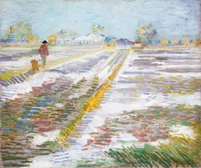 Vincent van Gogh's Landscape with Snow is an oil on canvas (15-1/16x18-3/16 inches) that is housed in the Solomon R. Guggenheim Museum in New York.