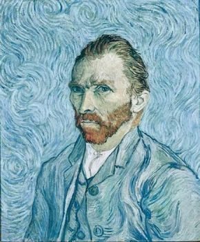 Vincent van Gogh's Self-Portrait (oil on canvas, 25-1/2x21-1/4 inches) is housed in the Musée d'Orsay in Paris.