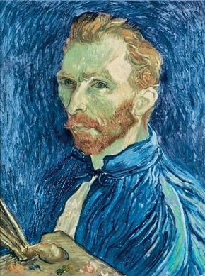 Self-Portrait by Vincent van Gogh, is part of the Collection of Mr. and Mrs. John Hay Whitney at the National Gallery of Art in Washington, D.C.