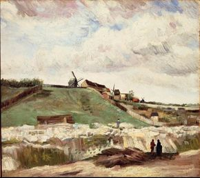 Vincent van Gogh's The Hill of Montmartre with Stone Quarry is an oil on canvas (22 x 24-1/2 inches) that is housed in the Van Gogh Museum in Amsterdam.